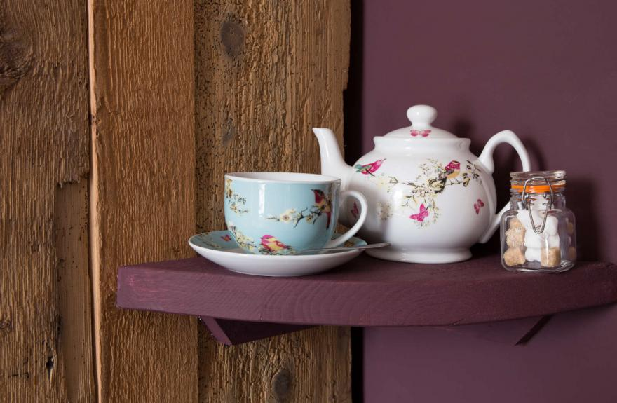 The Boudoir detail of teapot and teacup