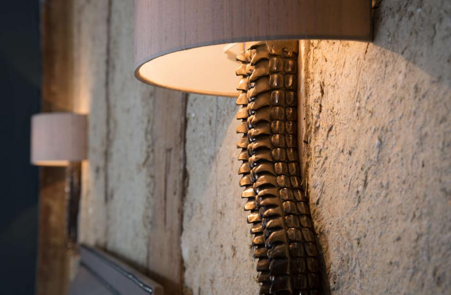 The Wattle detail of wall light